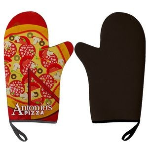 Left Handed BBQ Mitt- Rubber Insulation-Full Color