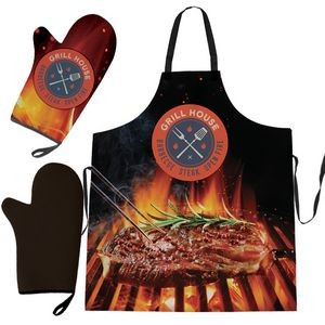 Full-Color All-Purpose Apron & Oven BBQ Mitt